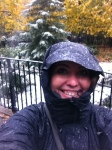 Catching some snow flakes in NYC - Fall 2011